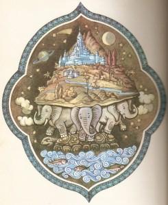 elephant on tortoise