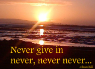 never give in blog